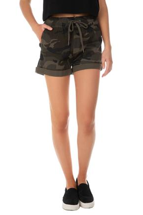 Camo Twill Short with Drawcord