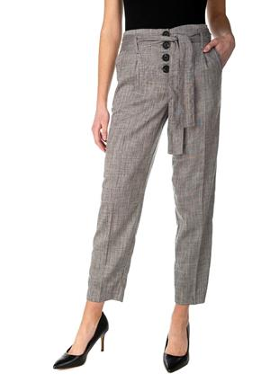 Crosshatch Pleated Pant with Buttons