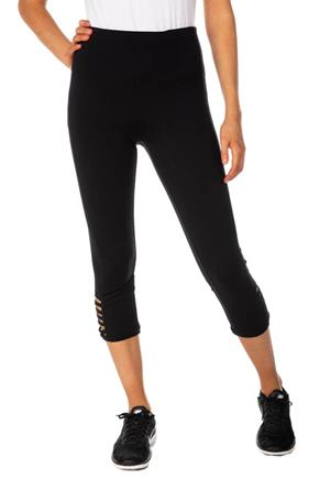 Athletic High-Rise Cropped Legging with Ladder Detail
