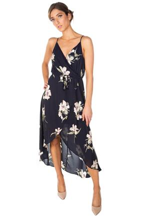 Floral Crossover Maxi Dress