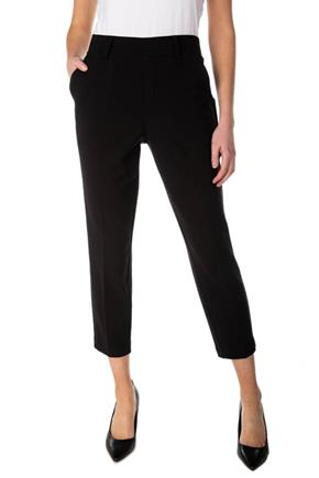 Pull-On Crop Pleated Pant