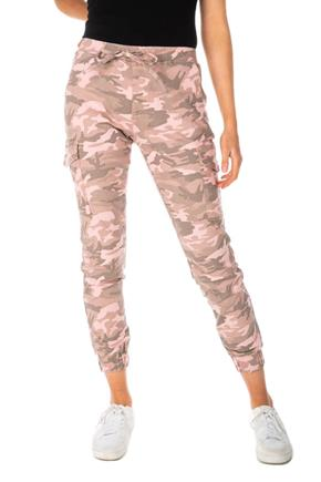 Almost Famous Pink Camouflage Slim Fit Cargo Jogger