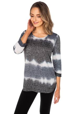 Tie-Dye 3/4 Sleeve Sweater