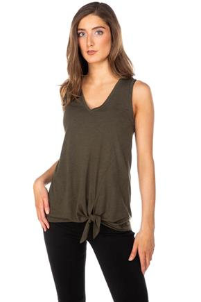 V-Neck Tank with Side-Tie