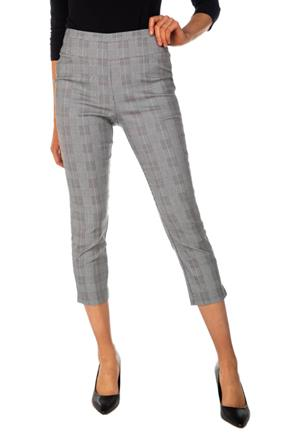 Free Movement Plaid Pull-On Cropped Pant