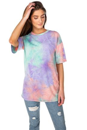 Tie-Dye Short Sleeve Tunic