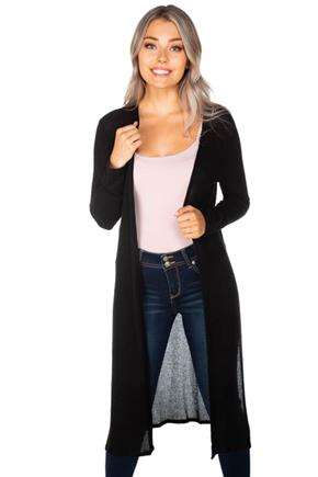 Cardigan With Side Slits