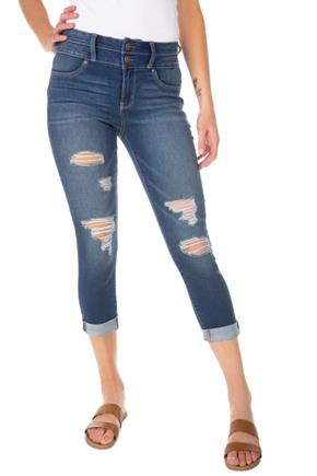 WallFlower Harper Wash Insta-Soft Sassy Destructed Crop Jean