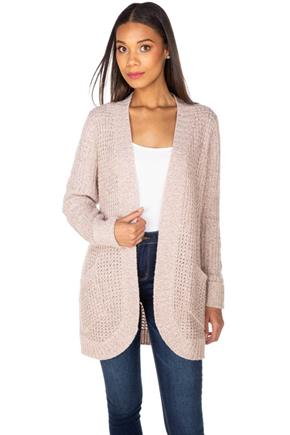 Knitted Open Cardigan with Pockets