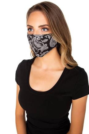 Black Bandana Non-Medical Face Mask