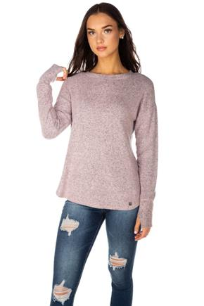 Supersoft Crewneck Sweater with Thumbholes