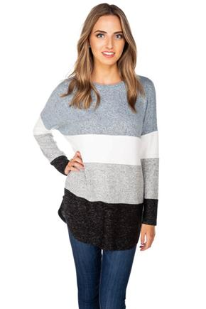 SuperSoft Colour-Block Long Sleeve Top