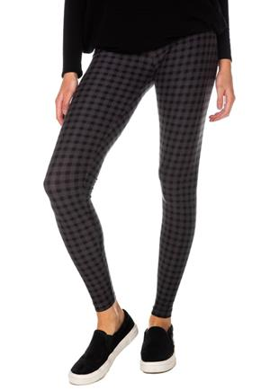 Shadow Plaid High-Rise Legging