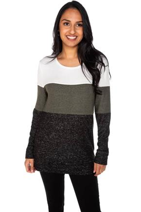 SuperSoft Colour-Block Crewneck Top