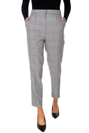 Glen Plaid Ankle-Length Trouser