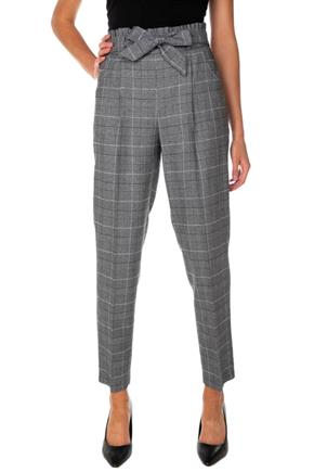 Glen Plaid Paperbag Ankle-Length Pant