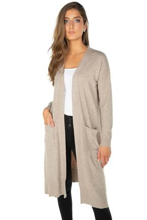 Duster Cardigan with Front Pockets