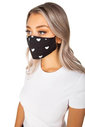 Heart Print Non-Medical Face Mask