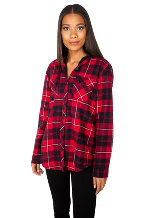 Jasper Plaid Hooded Flannel with Sherpa Lining