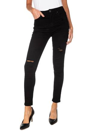 YMI Black Distressed High-Rise Skinny Jean