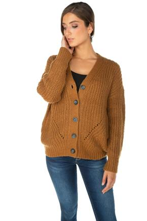 Oversized Knitted Grandfather Cardigan