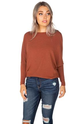 Long Sleeve Dolman Knit Top