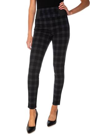 Hayley Plaid Ponte Skinny Pant