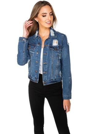Almost Famous Distressed Denim Jacket