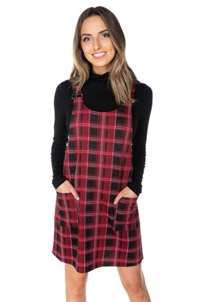 Arianna Plaid Knit Jumper