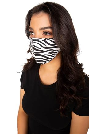Zebra Print Non-Medical Face Mask