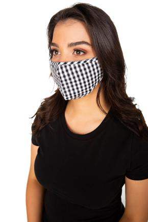 Gingham Print Non-Medical Face Mask