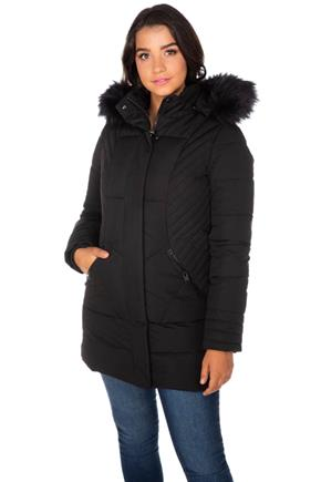 Point Zero Parka with Faux Fur Trim Hood