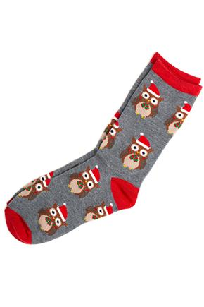 Christmas Owl Socks