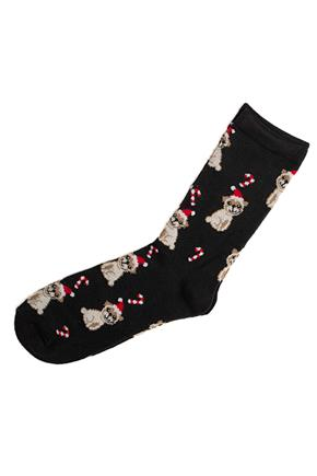 Christmas Pugs and Cany Canes Socks