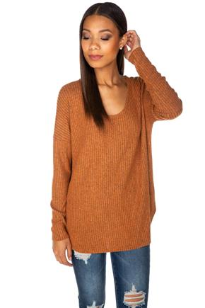 Supersoft Ribbed V-Neck Sweater