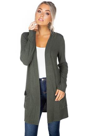 SuperSoft Long Sleeve Cardigan with Pockets
