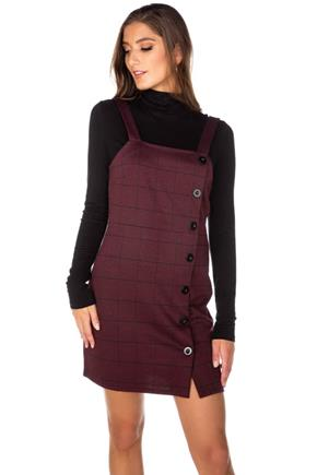 Bridget Glen Plaid Bodycon Jumper with Buttons