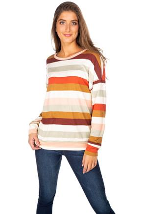 Multi-Colour Stripe Sweatshirt
