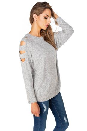 Supersoft Sweater with Ladder Detail on Sleeves