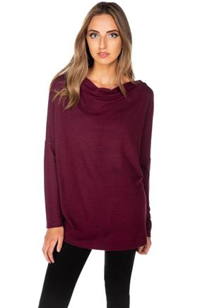 Supersoft Drape Neck Sweater