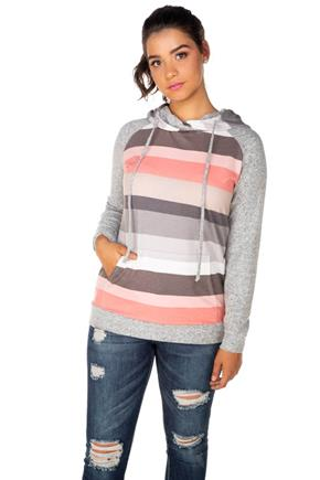 Stripe Hoodie with Supersoft Sleeves