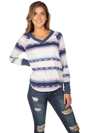 WallFlower Baja Long Sleeve V-Neck Sweater
