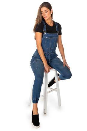 Almost Famous Mid Wash Slim Fit Jogger Overalls