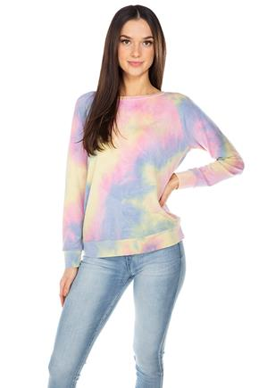 Light Tie-Dye Long Sleeve Sweatshirt