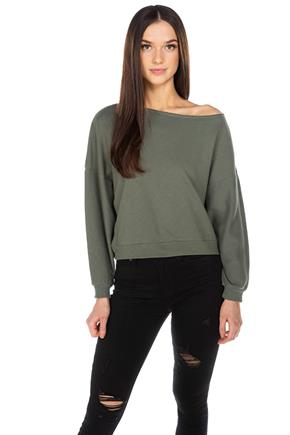 Off-The-Shoulder Crop Sweater
