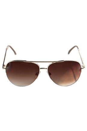 Aviator Sunglasses with Twisted Metal Arms