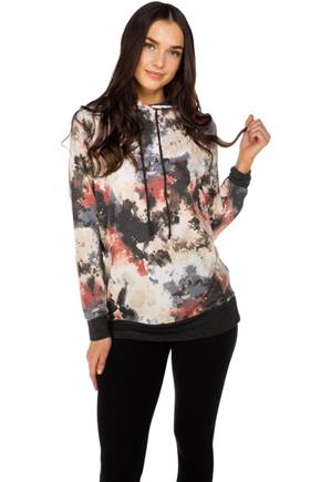 Tie-Dye Hoodie with Contrast Trims