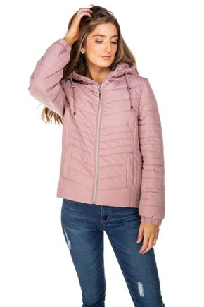 Nylon Hooded Puffer Jacket
