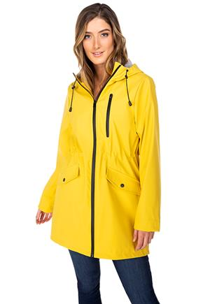 Rain Anorak Jacket with Stripe Lining