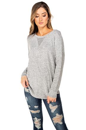 Supersoft Long Sleeve Sweater with Side Panel